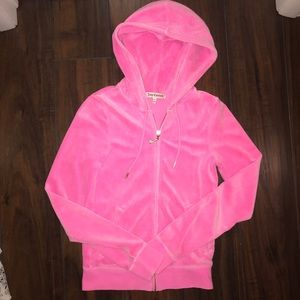 Pink juicy couture velvet jacket XS